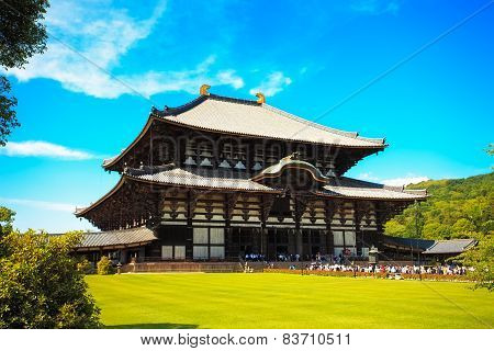 Todai Ji Temple And Park In Nara City. Japan.
