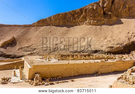 Ruins Of The Mortuary Temple Of Nebhepetre Mentuhotep - Egypt