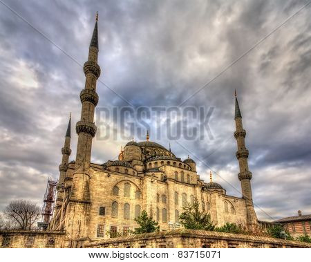 Sultan Ahmet Mosque (Blue Mosque) in Istanbul - Turkey poster
