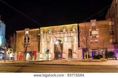 Porte Stanislas In Nancy At Night - France, Lorraine