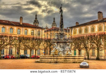 Place D'alliance With The Fountain - Nancy, France