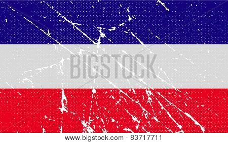 Flag Of Los Altos With Old Texture. Vector