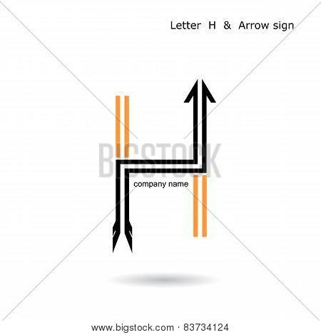 Creative Letter H  Icon Abstract  Logo Design Vector Template.