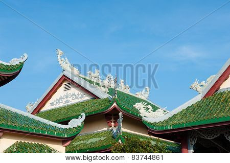 Roofs Of Temple Linh Ung Pagoda Vietnam Danang