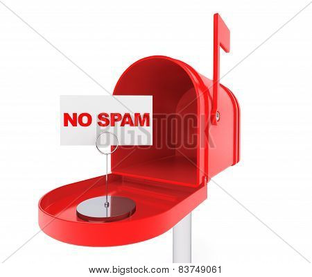 Mailbox With No Spam Sign