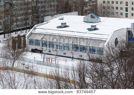 Gymnasium Building In Bibirevo District. Moscow.