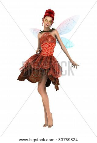 3D digital render of a beautiful fantasy fae isolated on white background poster