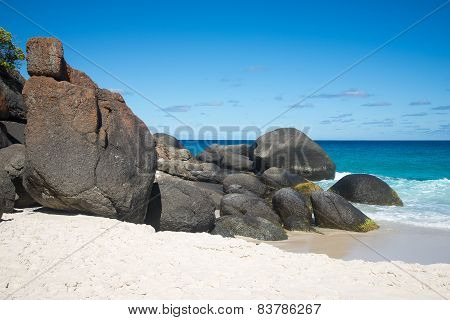Scenic rocks on Shelley Beach in West Cape Howe National Park near Albany