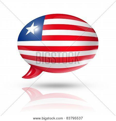 Liberian Flag Speech Bubble