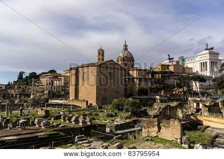 Morning Light Over Roman Forum