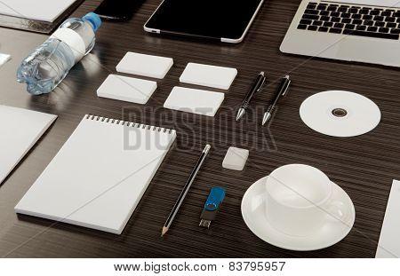 Mockup business template. High resolution. 3D render. poster