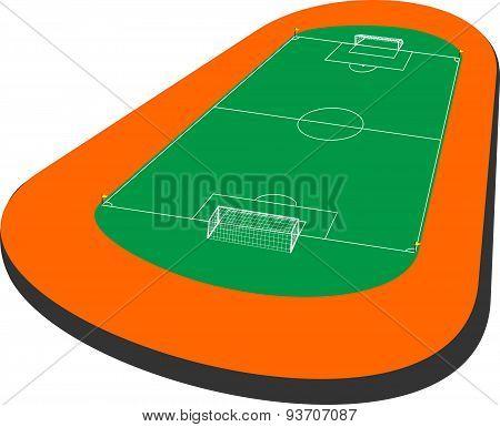 Soccer filed 3d