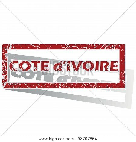 Cote d Ivoire outlined stamp