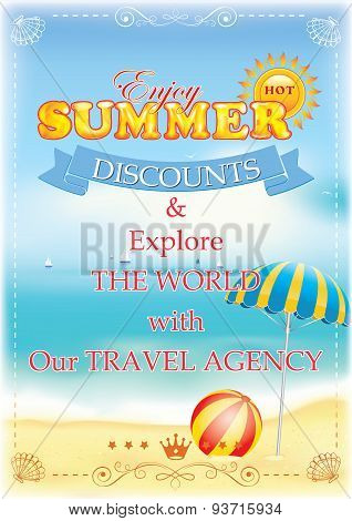 Summer poster for travel agencies.