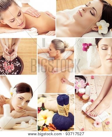 Traditional oriental rejuvenation treatments. Health care, massage, wellness, spa and Thai medicine concept.