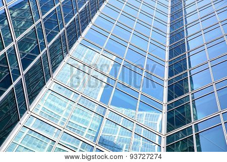 Wall of modern office building - architectural and business background