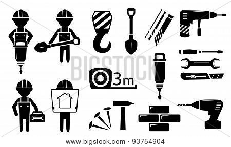 tools and builders set