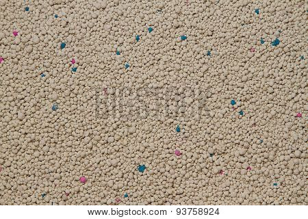 White Sodium Bentonite Cat Litter Or Cat Sand Texture And Background