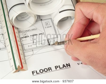 Architect'S Drawing And Plan