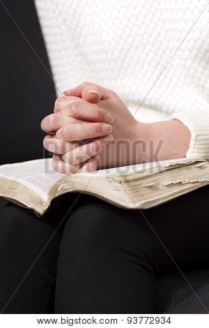 Reading the bible and pray