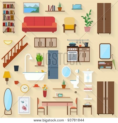 Furniture set for rooms of house