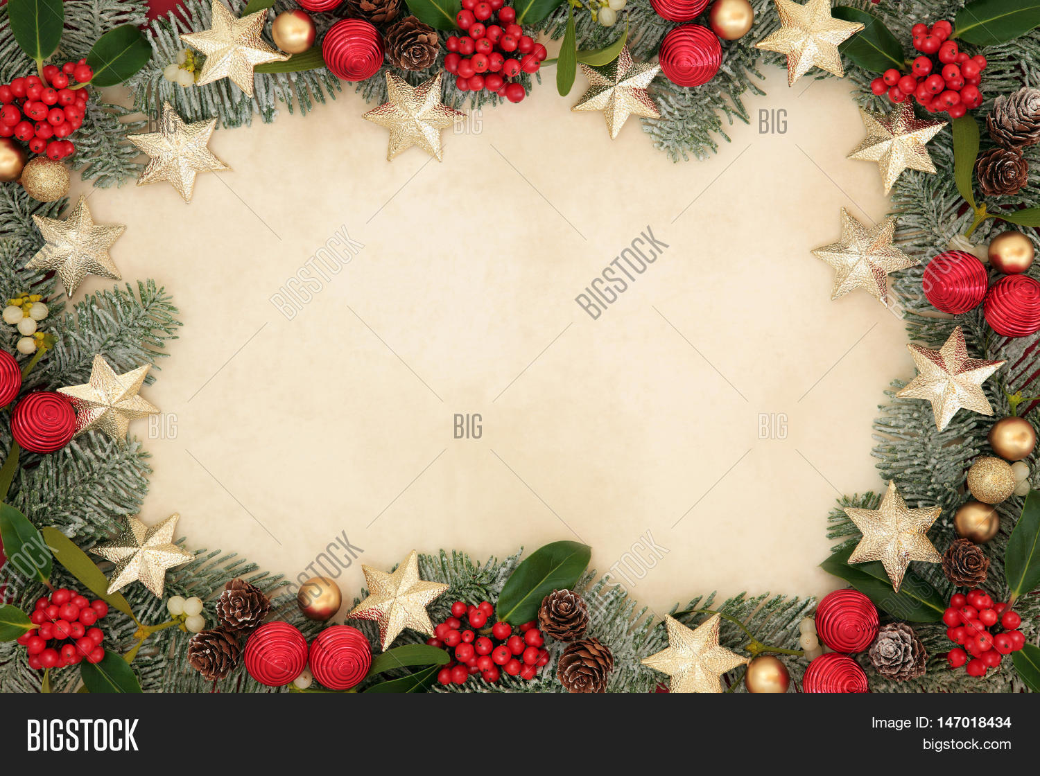 Free Illustration Background Christmas Red Gold: Christmas Background Image & Photo (Free Trial)