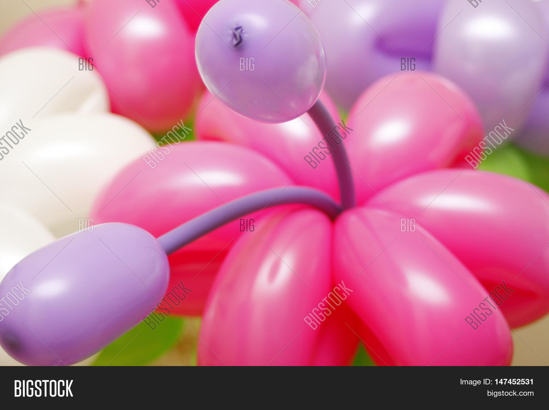Balloon Flowers Latex Image Photo Free Trial Bigstock