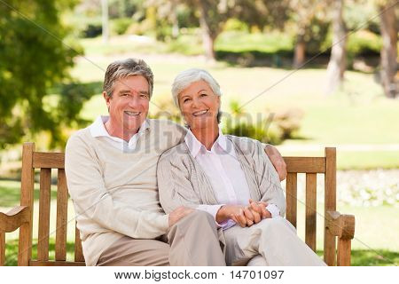 Senior Couple On The Bench