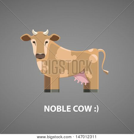 Noble cow for the emblem or logo