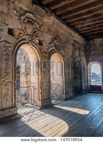 Porta Nigra interior in Trier in Germany