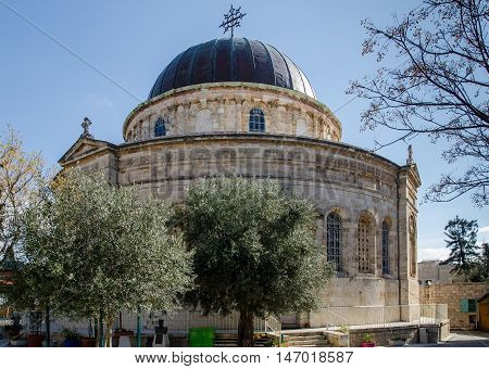JERUSALEM ISRAEL - MARCH 30 2012: Ethiopian Church in Jerusalem. Israel