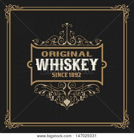 Vintage Whiskey Label Graphic