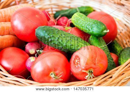 Mix Of Vegetables In Basket