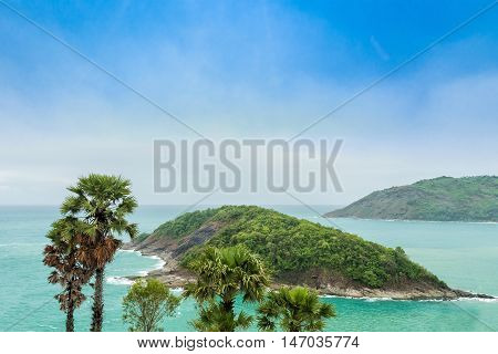 Phromthep Cape Beautiful Andaman sea view in Phuket island Thailand.
