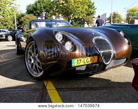 Amsterdam, The Netherlands - September 10, 2016: Brown Wiesmann Roadster Mf4-s Uit 2010 On Display D