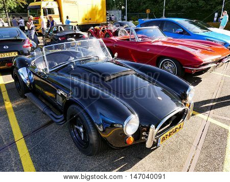 Amsterdam, The Netherlands - September 10, 2016: Black Cobra Replica Dax 1993 On Display During Cars
