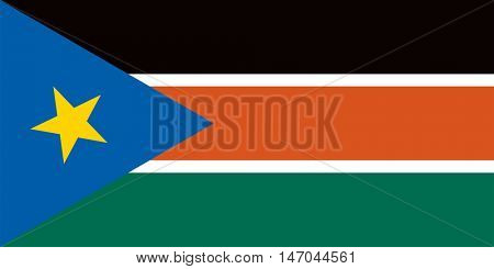 Vector South Sudan flag