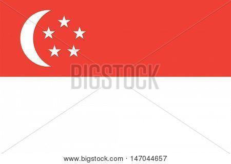 Vector Singapore flag