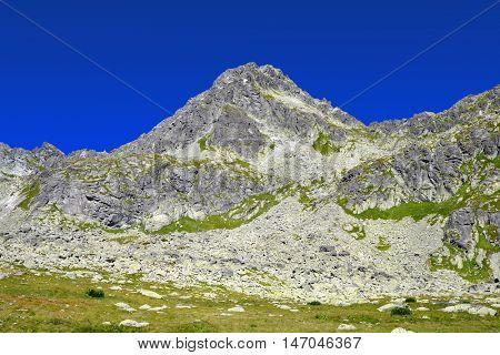 Mountain Strbsky Stit. Mlynicka Valley in Vysoke Tatry (High Tatras), Slovakia