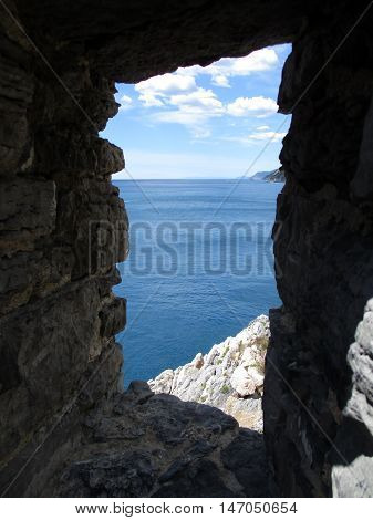 The Sea Of Portovenere From The Remains Of The Old Village C