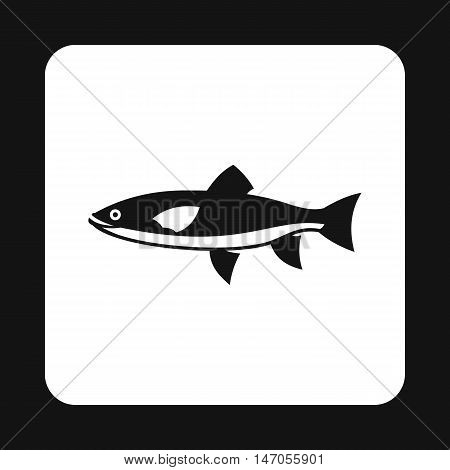 Smelt icon in simple style isolated on white background. Sea creatures symbol vector illustration