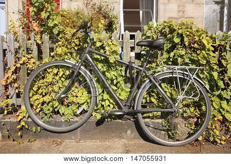 old beautiful bike parked in Edinburgh. Scotland