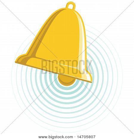 Vector Chiming Golden Bell