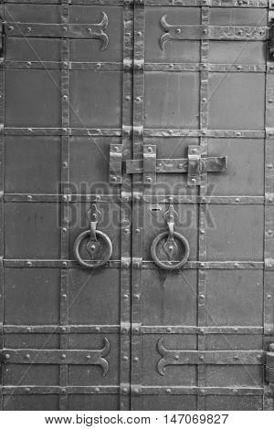 Iron Door Of An Old Building