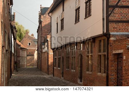 Grand Beguinage in the old Leuven. Belgium