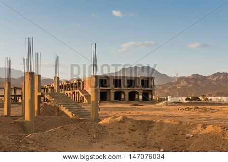 Uncompleted Resort Building, abandoned in Egypt, Dahab