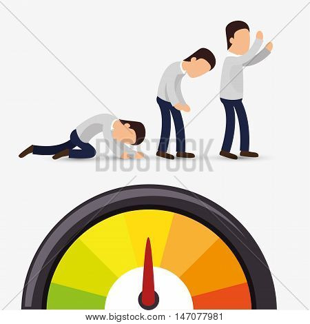 avatar efficiency chart design isolated vector illustration esp 10