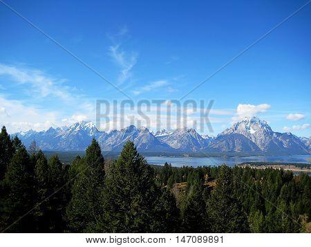 Some peaks of the Teton Range, located between Wyoming and Idaho (USA)