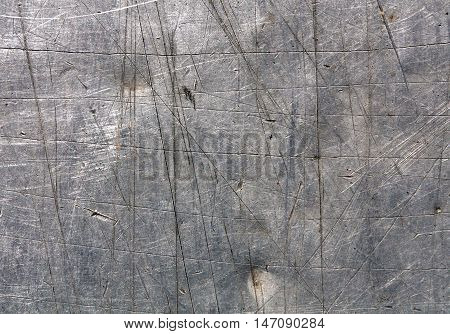 Gray Scratched Metal Surface.