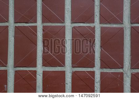 Covering Homes brown tiles rectangular shape as an abstract background